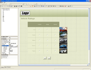 Sensus 5.0 Editor Screen